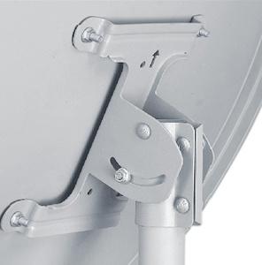 90cm Offset Galvanized Satellite Dish Antenna (90KU-2B)
