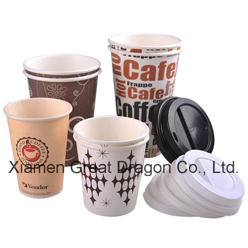 1.5-32 Ounce Hot Beverage Paper Cups and Lids (RPC-012)