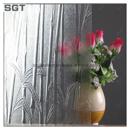 6-7mm Various Size Patterned Glass Rolled Glass for Different Usage