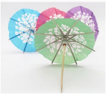 Creative Color Paper Umbrella Fruits Sign/Fruit Cocktail Umbrella