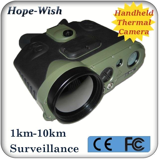 Handheld Infrared Thermal Surveillance Binocular Camera with 5km Lrf GPS