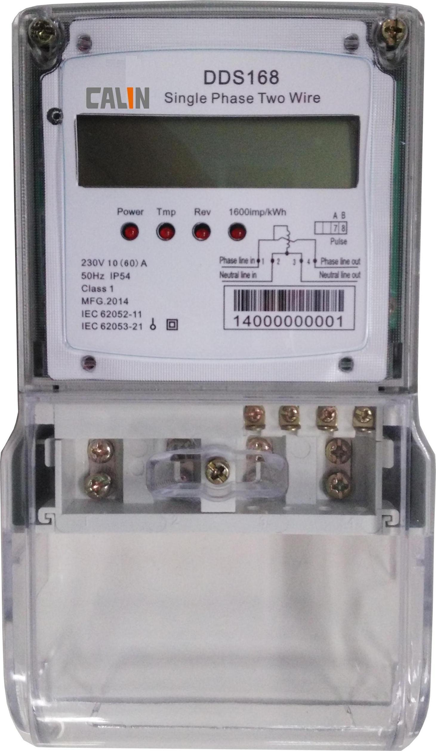 Single Phase Anti-Tamper Electricity Energy Meter