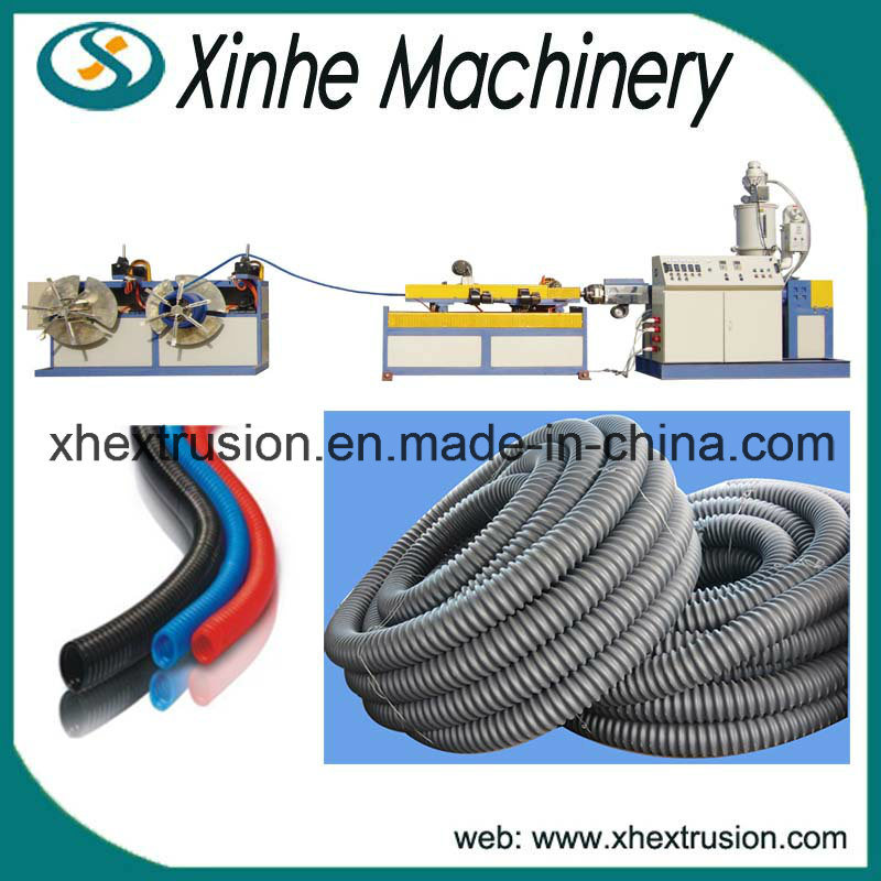 High Quality PE/PVC Single-Wall Corrugated Pipe Making Machine