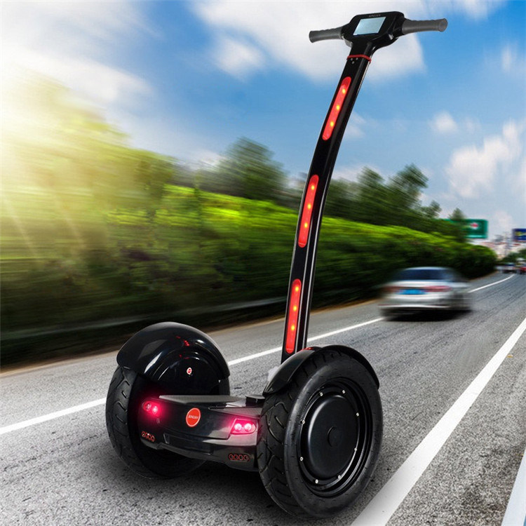 Electric Two Tire Smart Self-Balancing Standing up Handled Chariot
