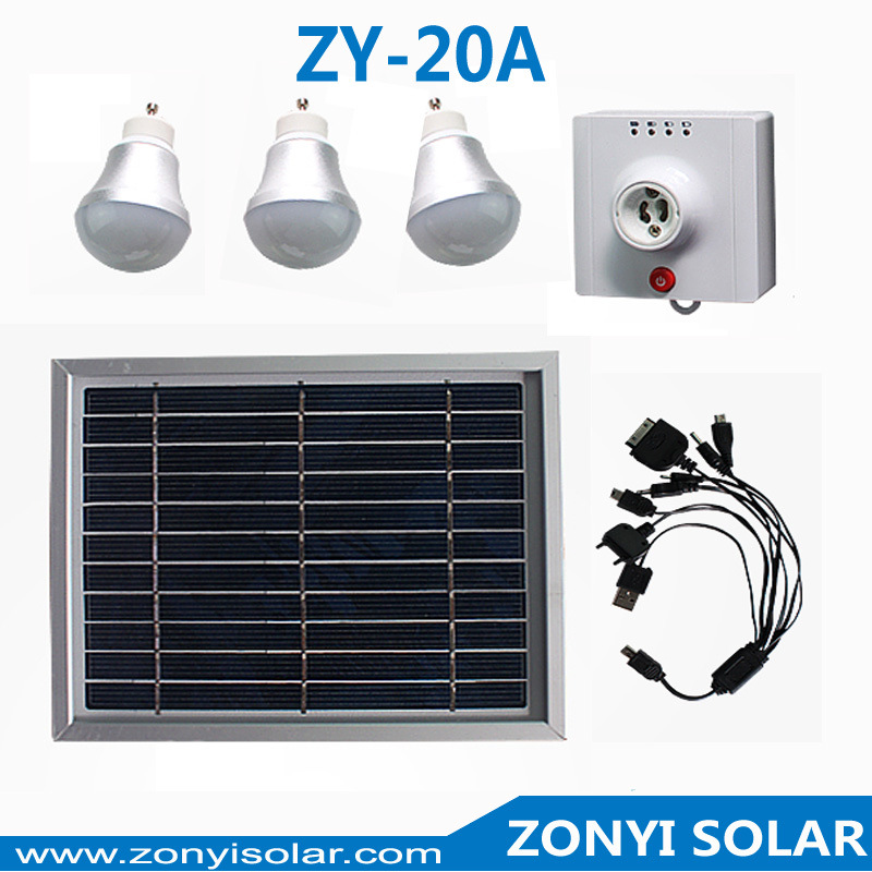 3W Solar Light Home System LED Lamp Portable Solar Light LED