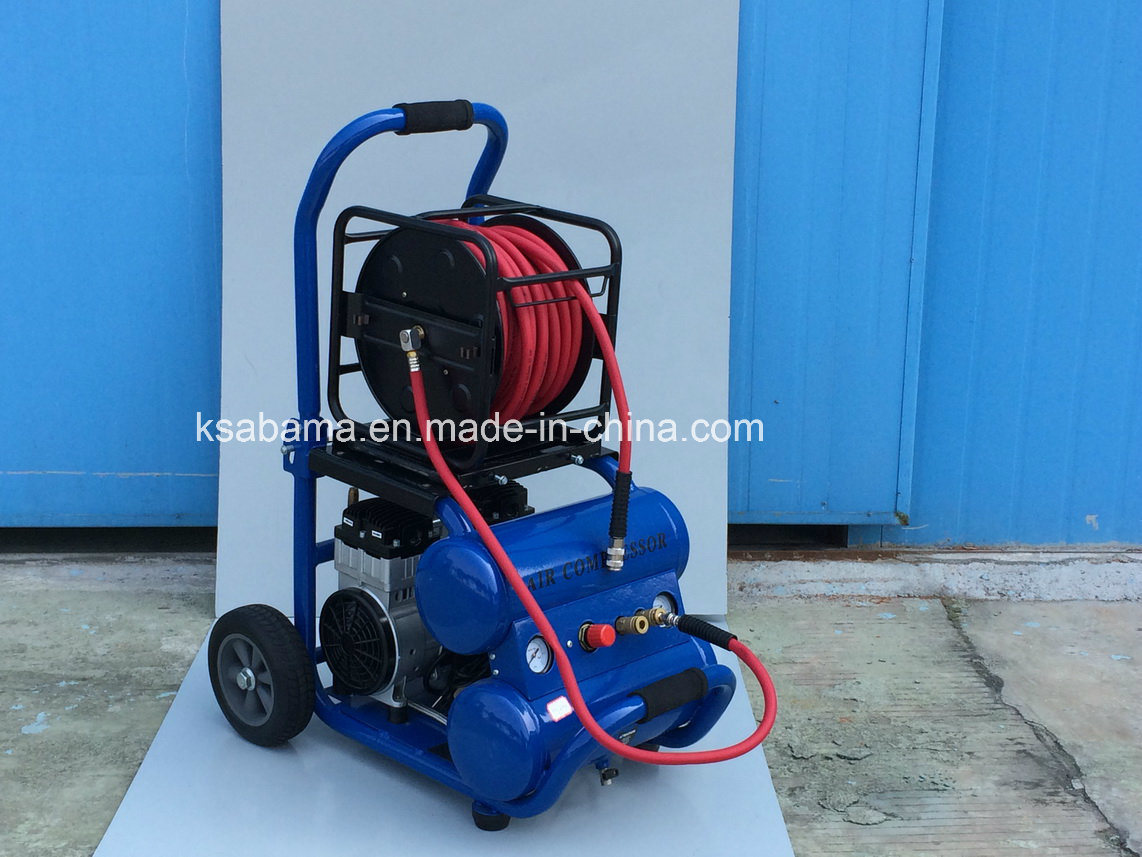 Tat-2518 Oil- Free Silent 1.5HP Manumotive Air Compressor (1.5HP 18L twin tank)