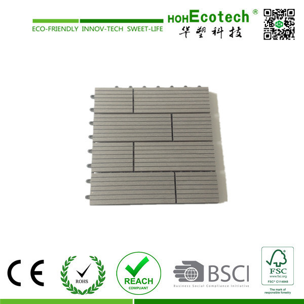 Nice Pattern Wood Plastic Composite Interlocking Tile/ WPC DIY Tile