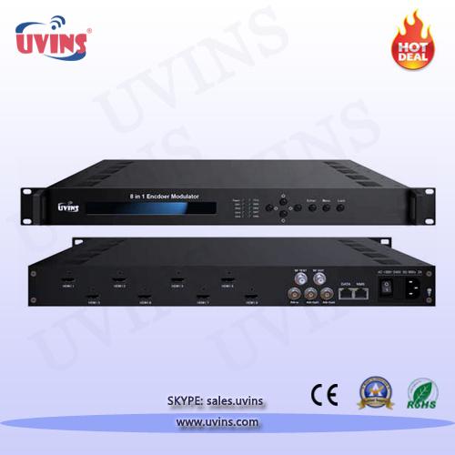 8 in 1 MPEG-4 HDMI Encoder Modulator