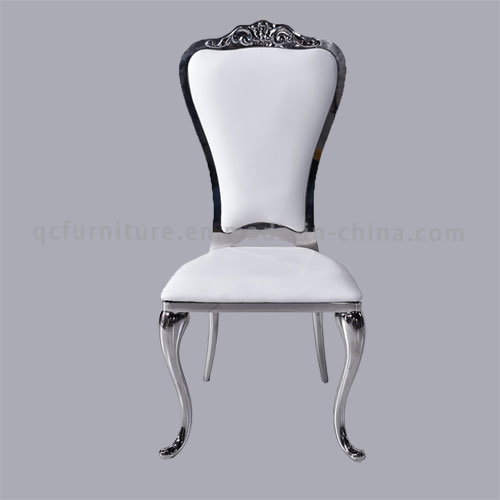 Stainless Steel White Crown Dining Chair for Wedding Wholesale