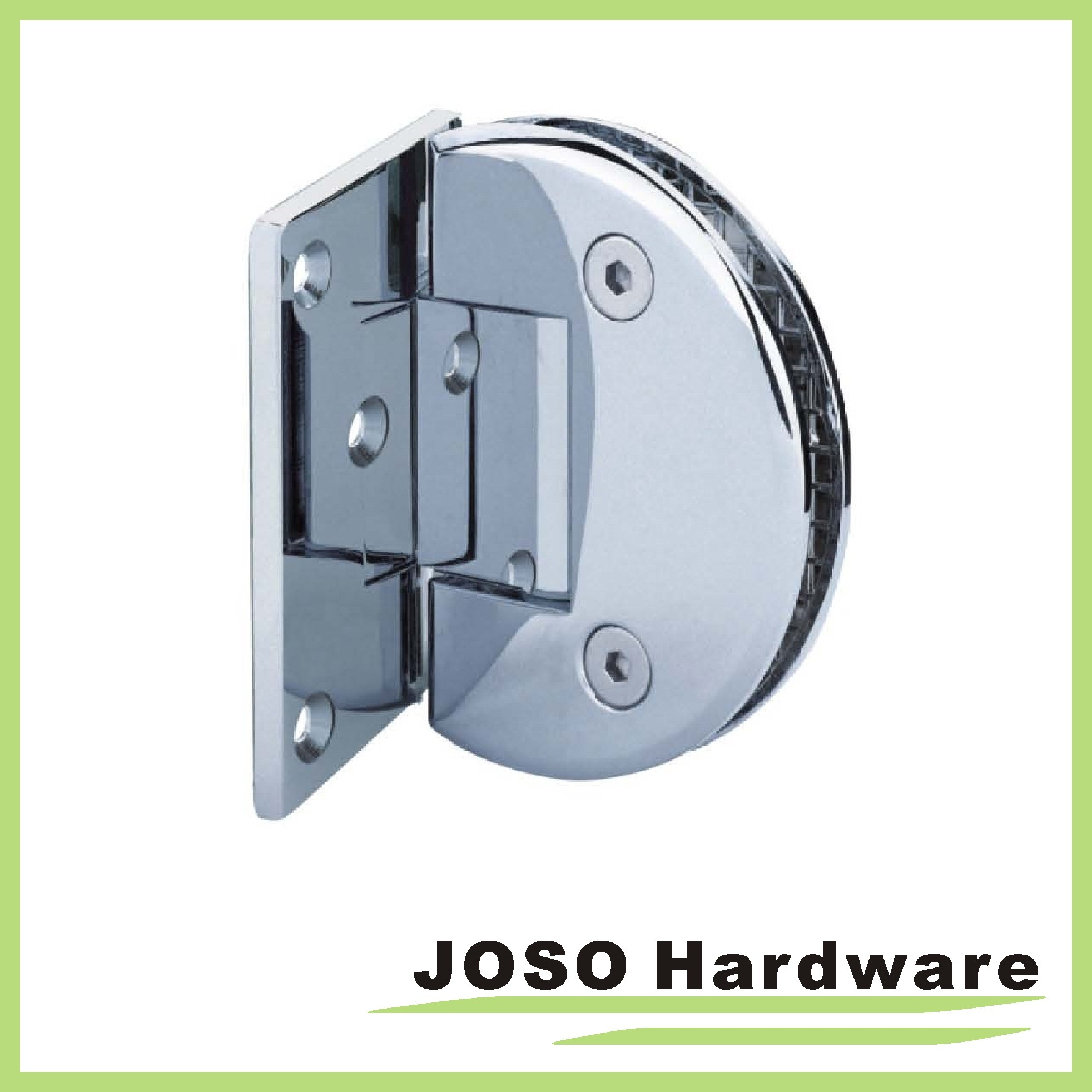 90 Degree Glass to Wall Brass Offset Back Plate Hinge