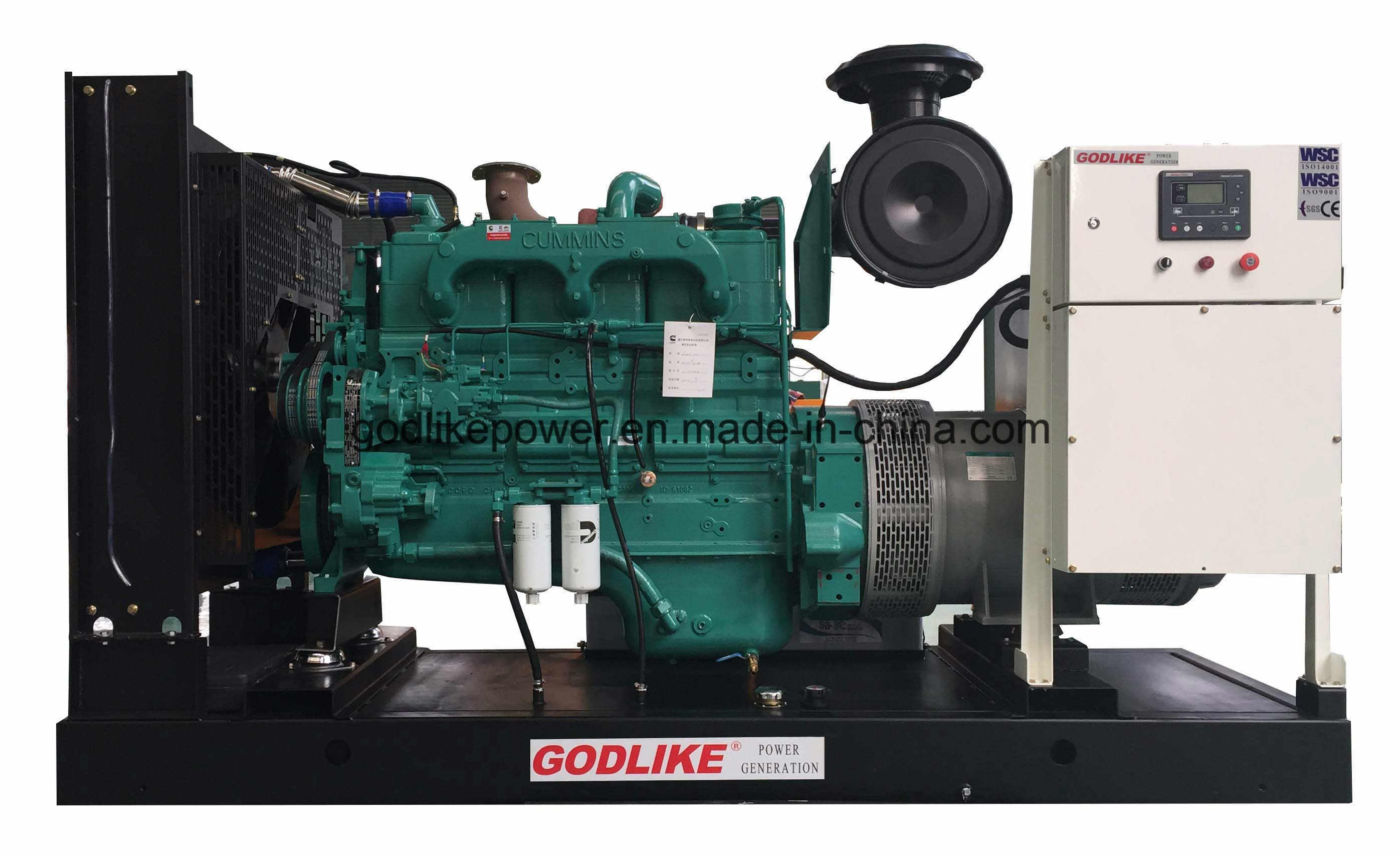 China Open Frame 250kVA 200kw Generator NT855 GA GDC250
