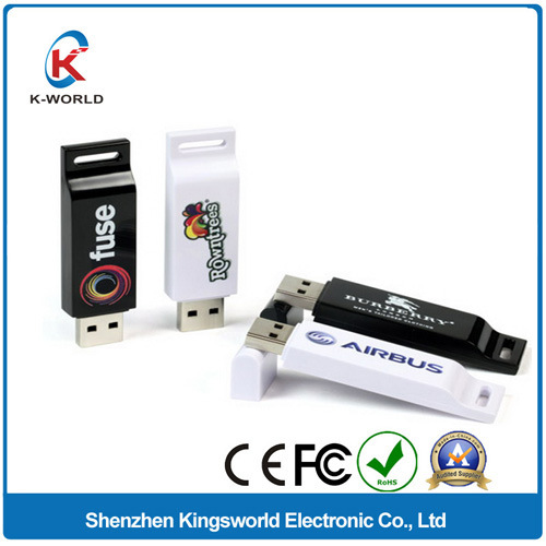 2GB Plastic USB Flash Disk with Color Printing