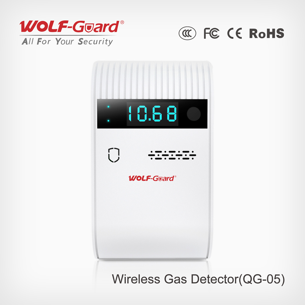 2016 Wireless Gas Detector New LCD Gas Sensor Qg-05