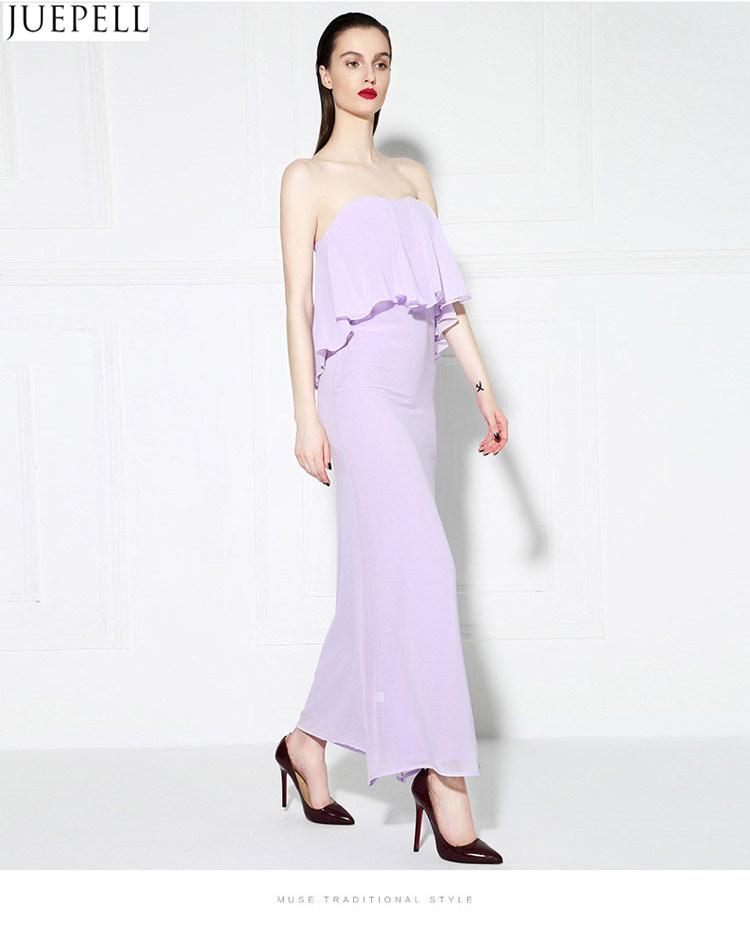 Fashion Summer New Women′s Chest Wrapped in Lotus Leaf Sexy Halter Wrap Dress Sweet Temperament Slim Dress Chiffon Dresses