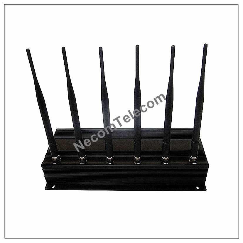 5-band portable gps & cell phone signal blocker ja - cell phone multifunctional signal jammer 6 antenna
