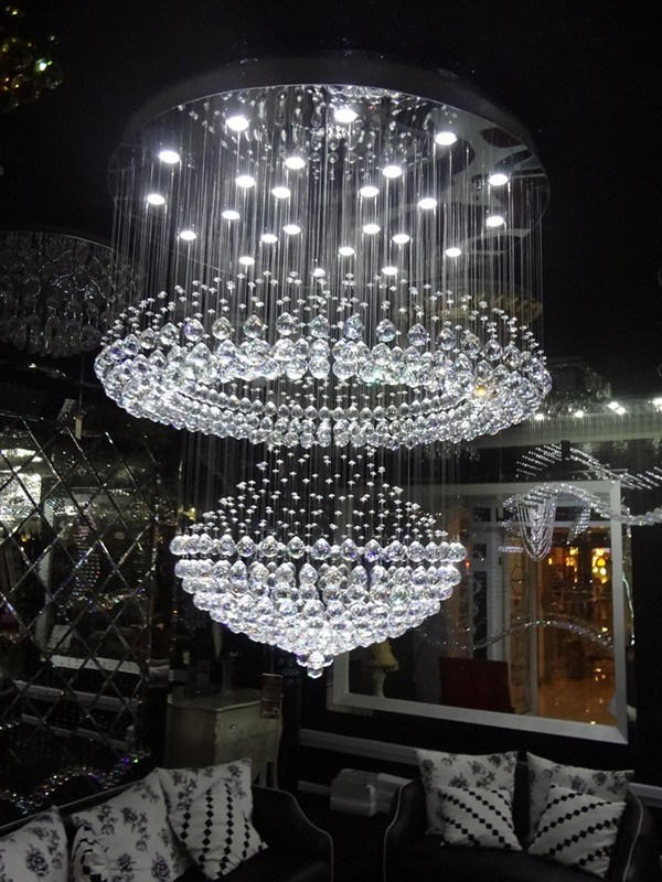 Decoration Modern LED Ceiling Lamp Project LED Crystal Chandelier (GD-9038-24)