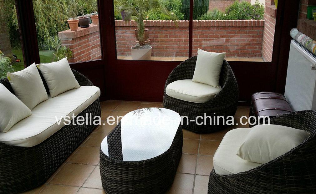 4-Piece Backyard Wicker Rattan Patio Outdoor Furniture