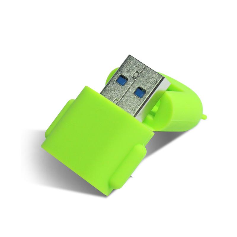 USB 3.0 2tb TF Microsdhc Microsdxc USB3.0 Microsd Card Reader with Doll Silicone Sleeve