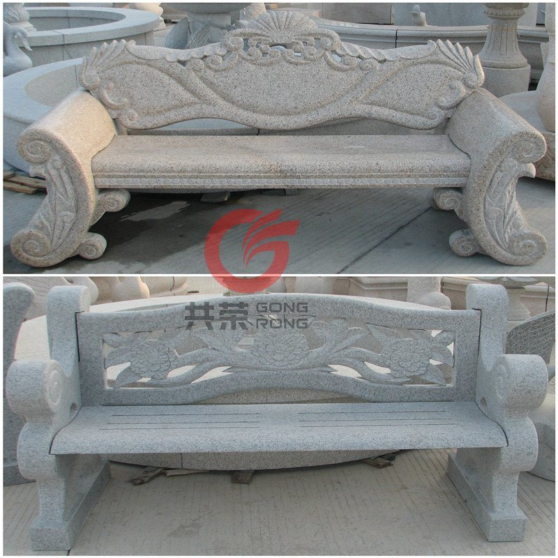 stone bench with back rest china stone bench garden