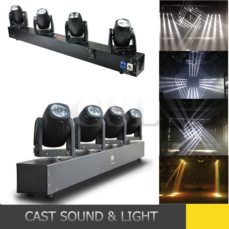 4 Heads RGBW CREE LED Moving Head Disco Beam Light