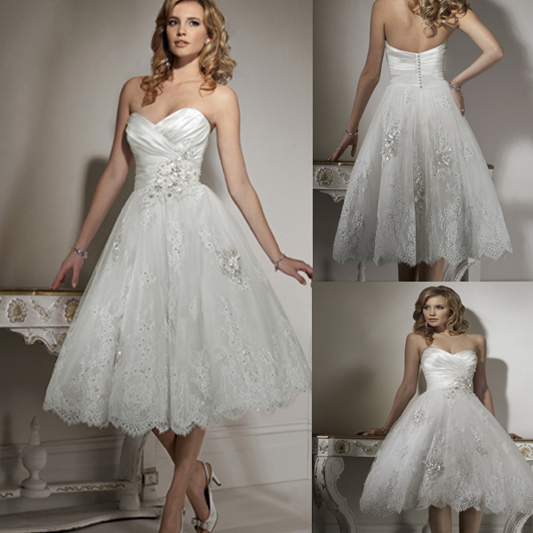 China Cute Short Wedding Dress 111030