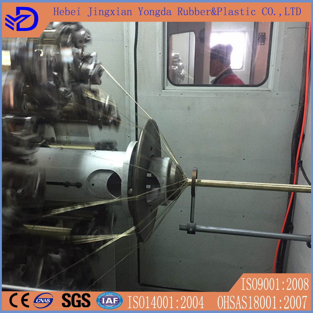 SAE100 R1at R2at Steel Wire Braided Hydraulic Rubber Hose