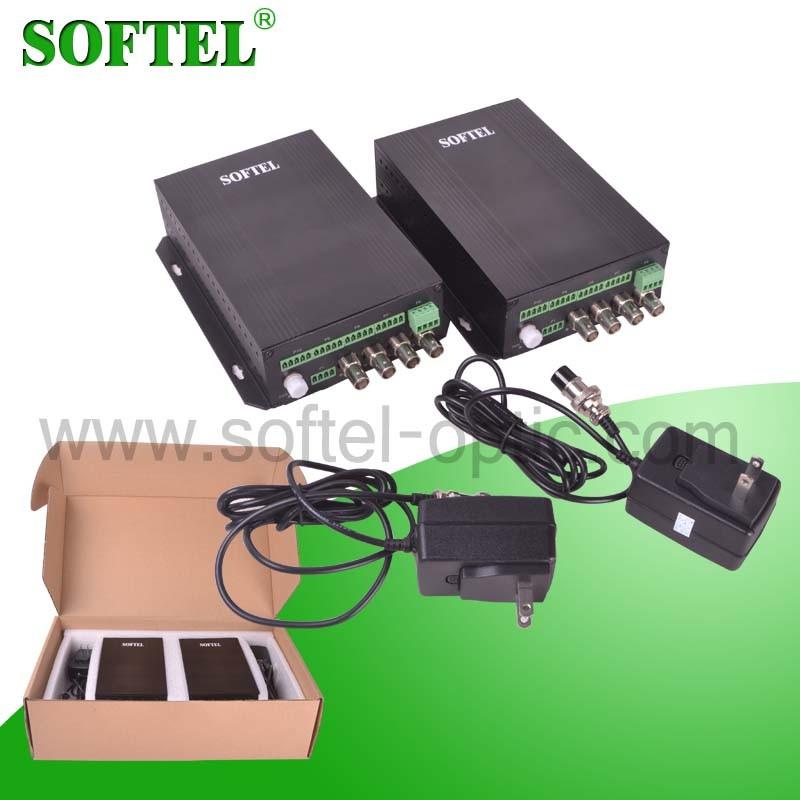 1 Video 1 Data Fiber Optical Video Converter