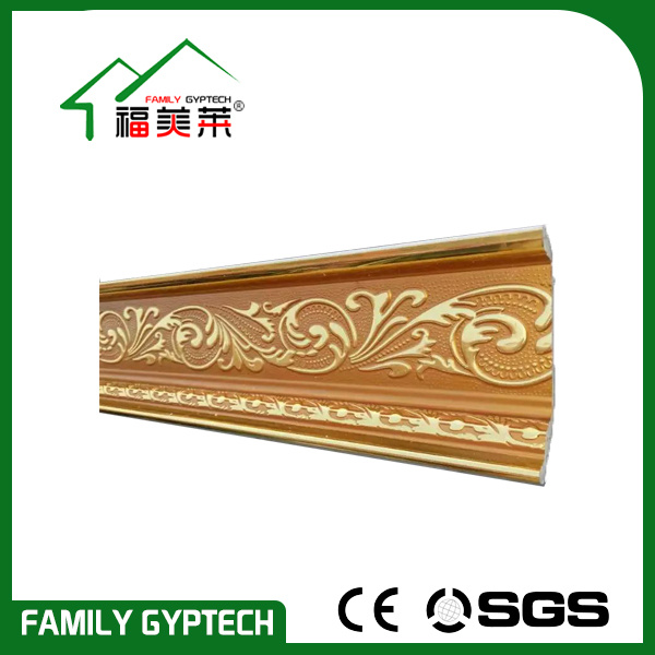 Golden Color PVC Moulding for Door and Window Decoration