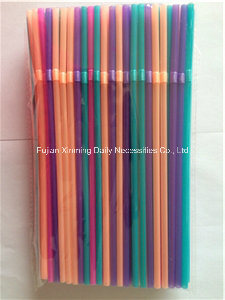 Colorful Disposable Flexible Juice Plastic Drinking Straw