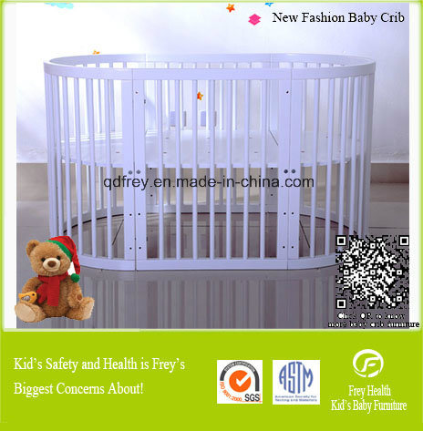 New Pine Wood Baby Bedroom Furniture of Baby Crib