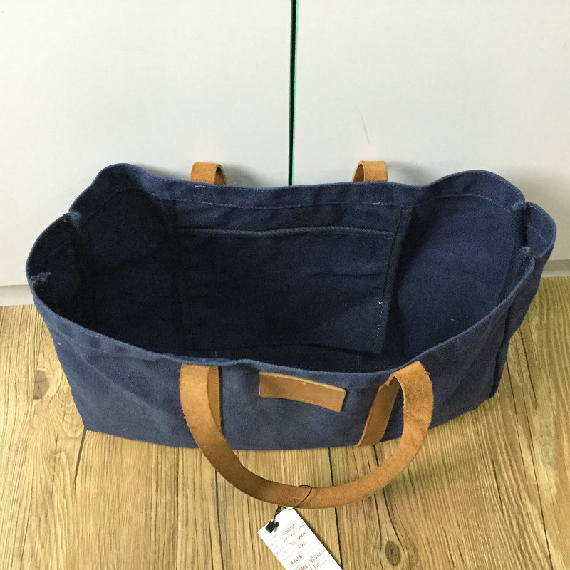 Custom High Quality Waxed Canvas Tote Bag for Ladies