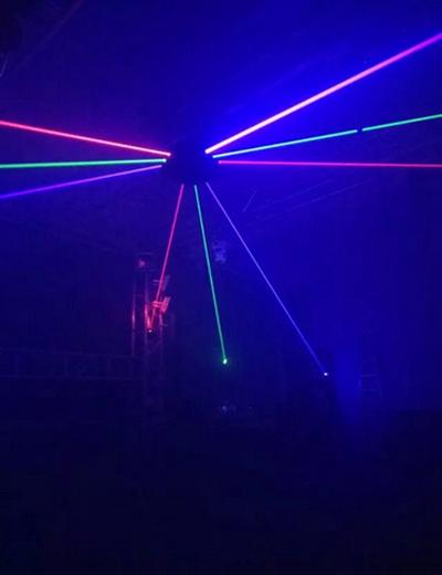9 Eyes RGB/Single Green Spider Moving Head Laser Light