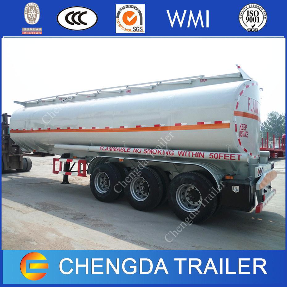 3 Axles Diesel Fuel Gasoline Petrolum Tanker 42000L 45000L Oil Tank Trailers for Sale