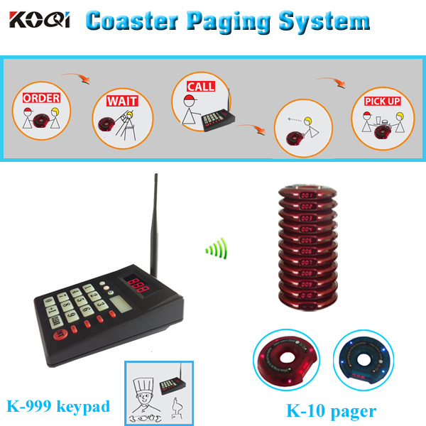 Kitchen and Guest Food Court Digital Coaster Paging System
