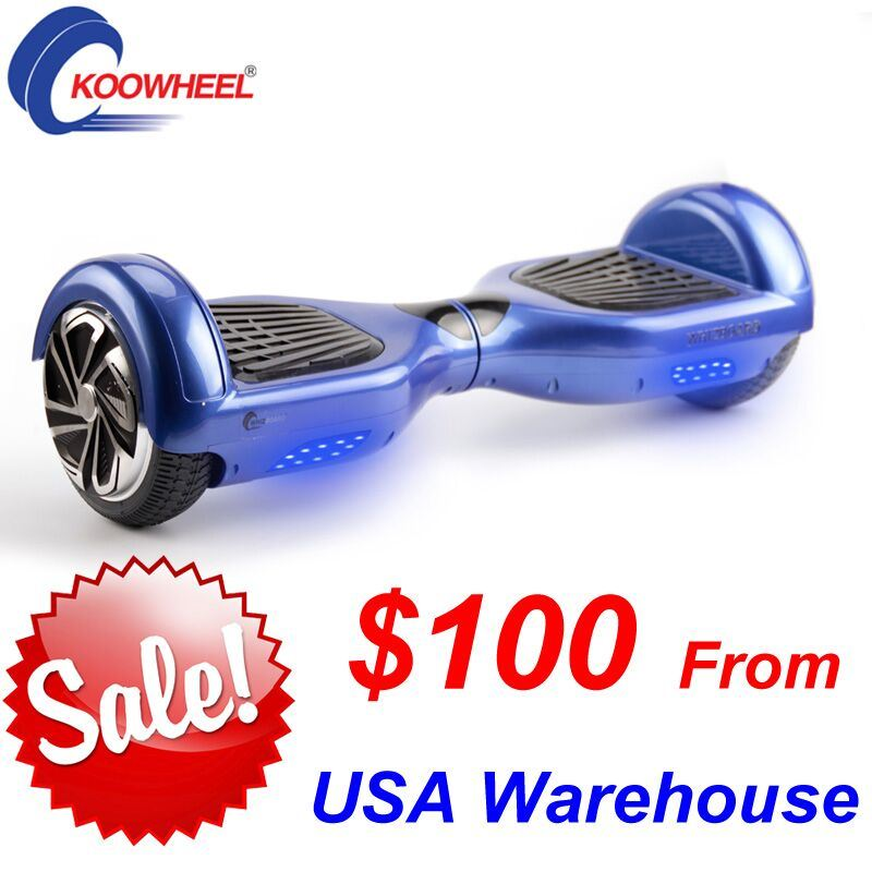 Two Wheels Self Balancing Electric Scooter Hoverboard E-Scooter with Bluetooth Music LED