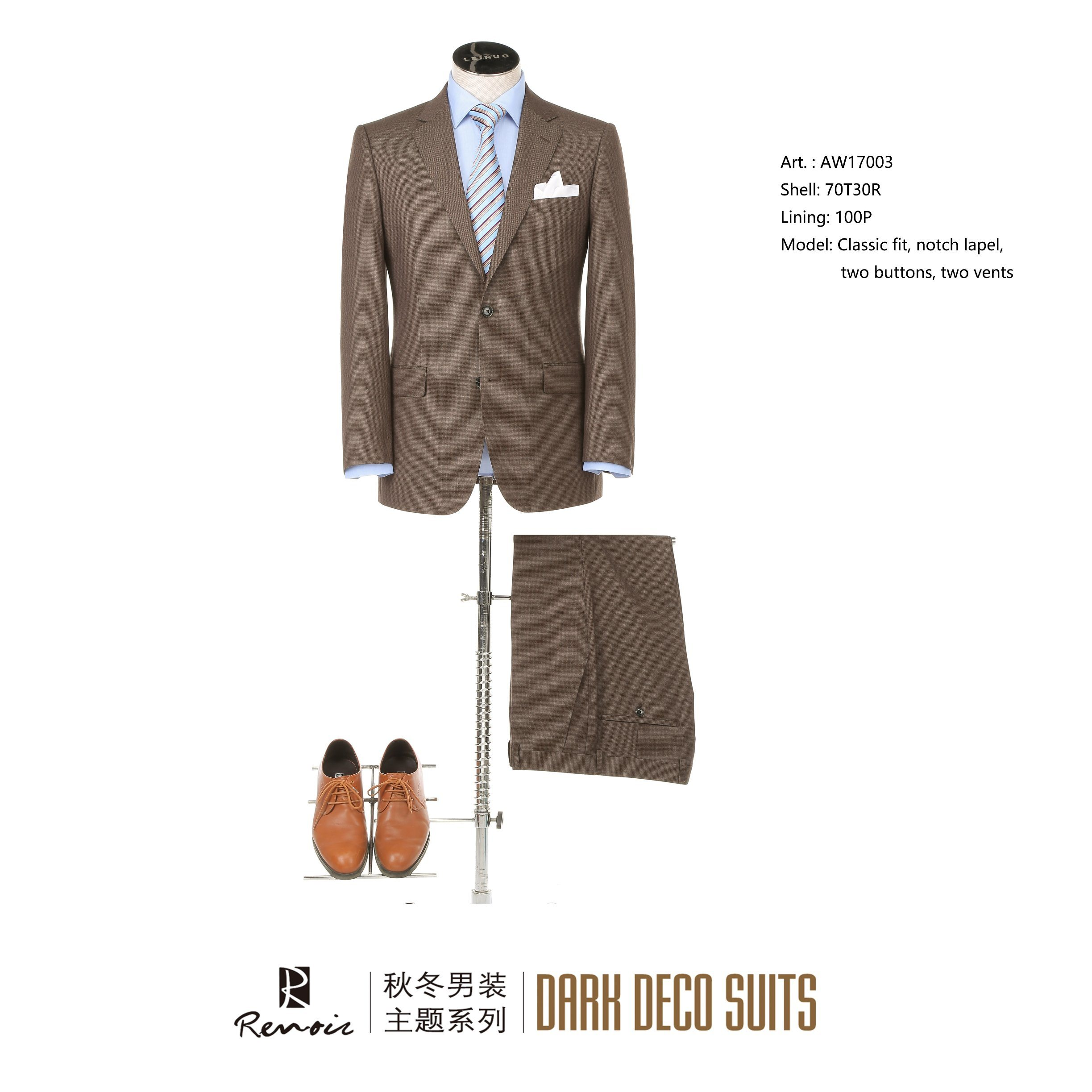 OEM Classic Fit Two Buttons Men′s Business Suit