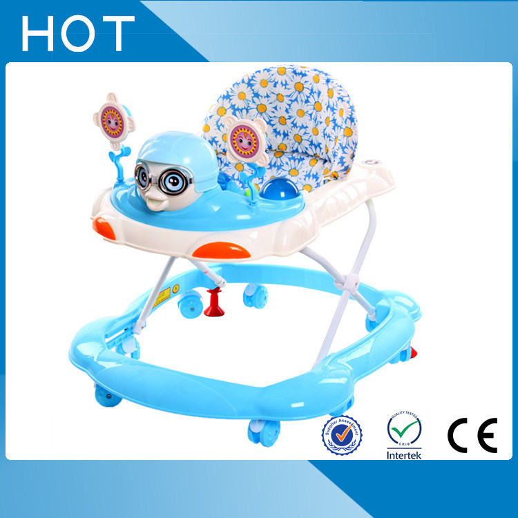 8 Wheels Simple Plastic Hebei Baby Walker for Sale