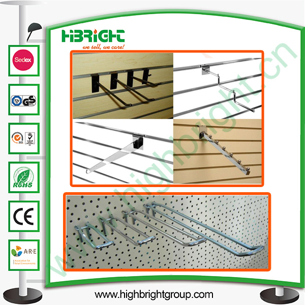 Single Wire and Double Wire Slatwall Hooks