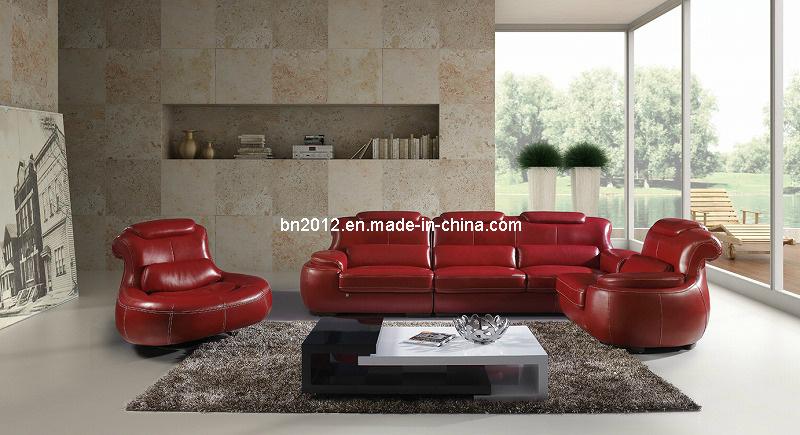 Living Room Genuine Leather Sofa (SBL-9015)