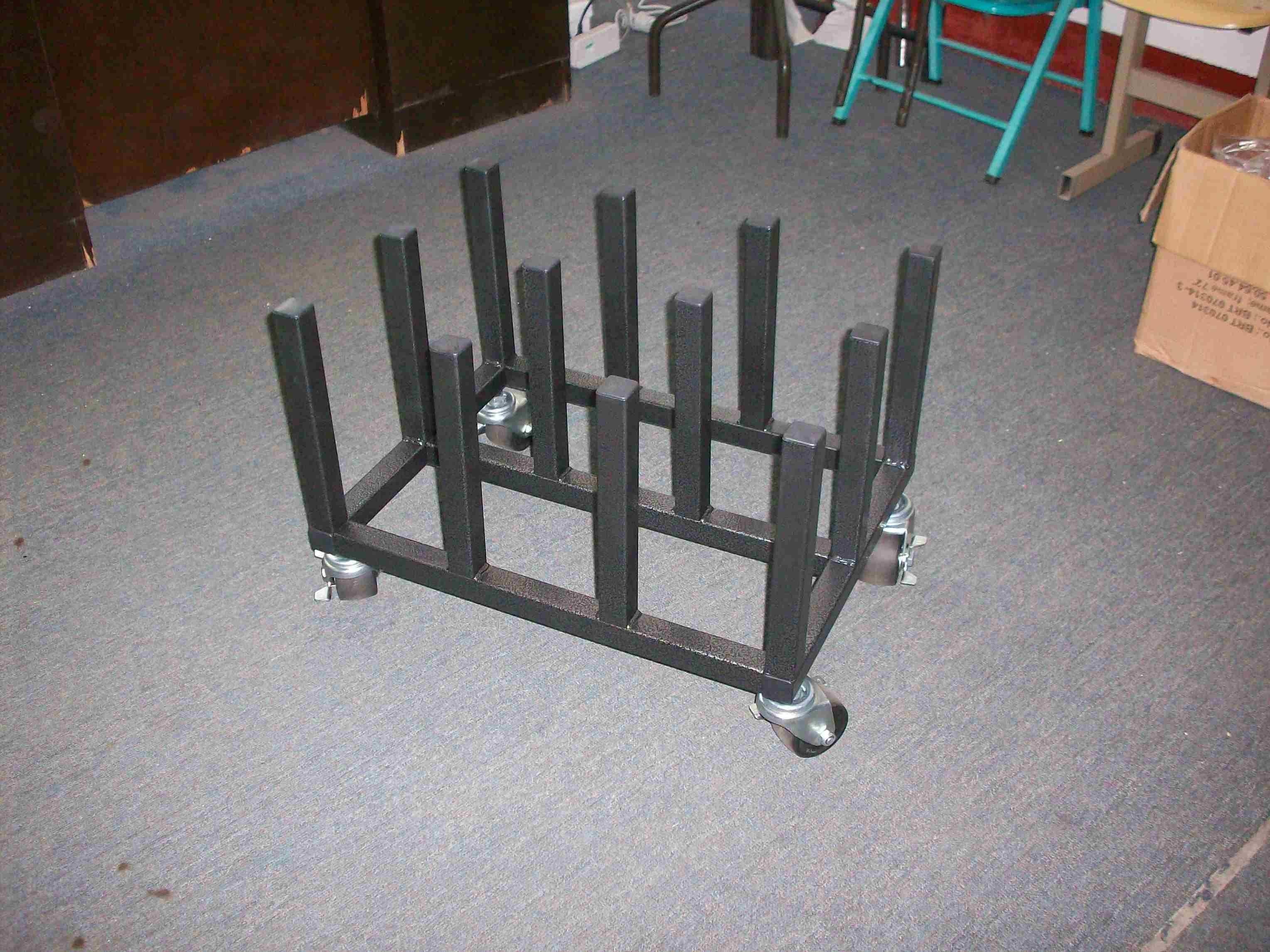 Heavy Duty Quality Mobile Vinyl Rack