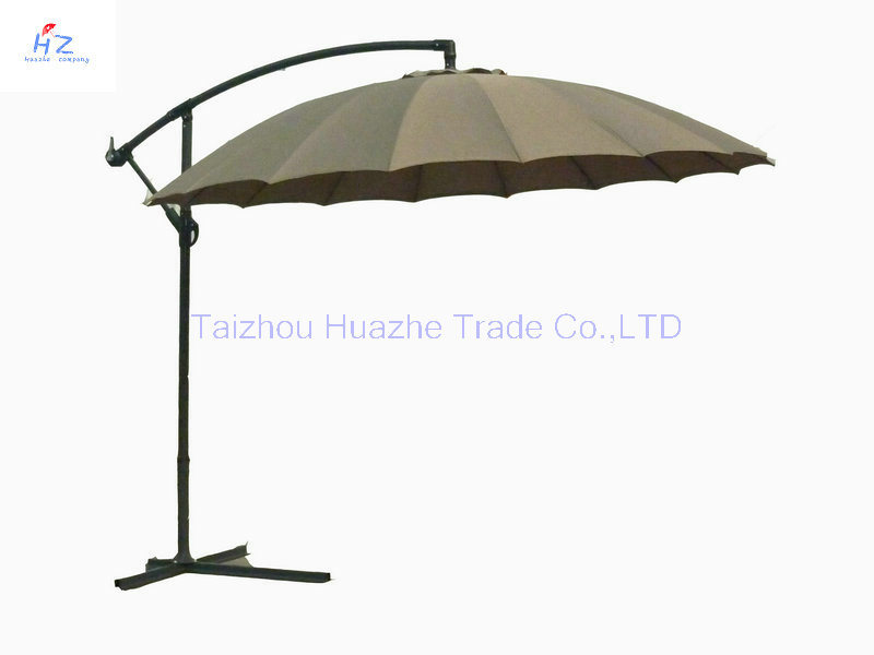 10ft Fiber Glass Parasol with Crank-Garden Parasol Banana Umbrella Outdoor Umbrella Garden Umbrella