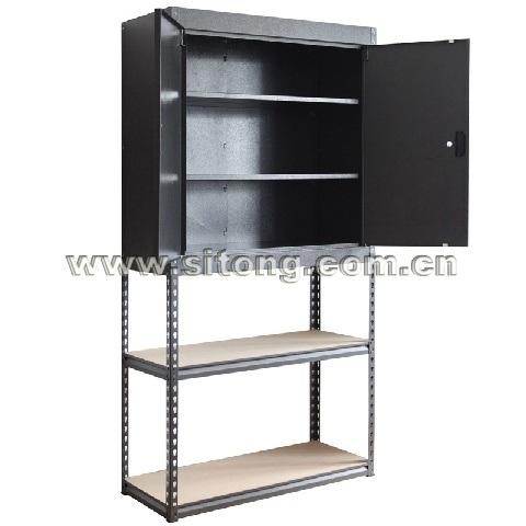 Two-Door Metal Steel Cabinet with 2 Floor Shelf