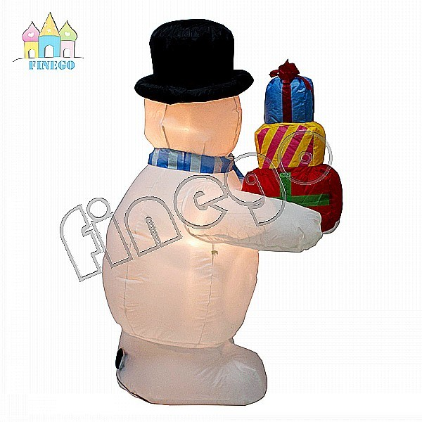 Inflatable Cheap Christmas Gift Decoration Toy Snow Man Cartoon Balloon