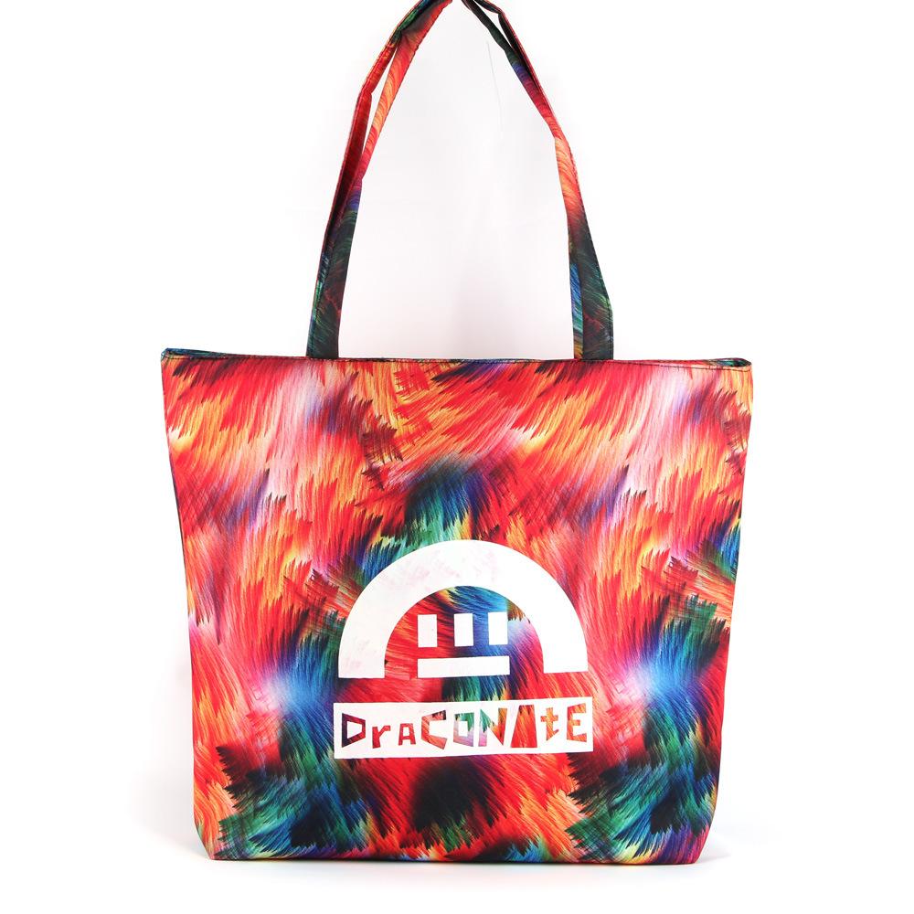 New Fashion Bag Handbag Shoulder Bag Leisure Casual Beach Student Travel Bag Tote Bag Flower Bag Waterproof Bag GS022503-3