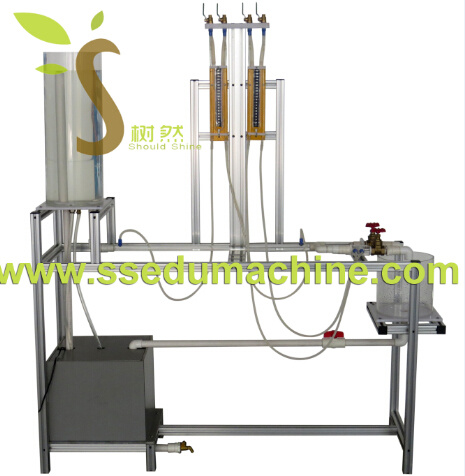 Pipes Fluid Friction Venturi Method Hydraulic Bench Teaching Equipment