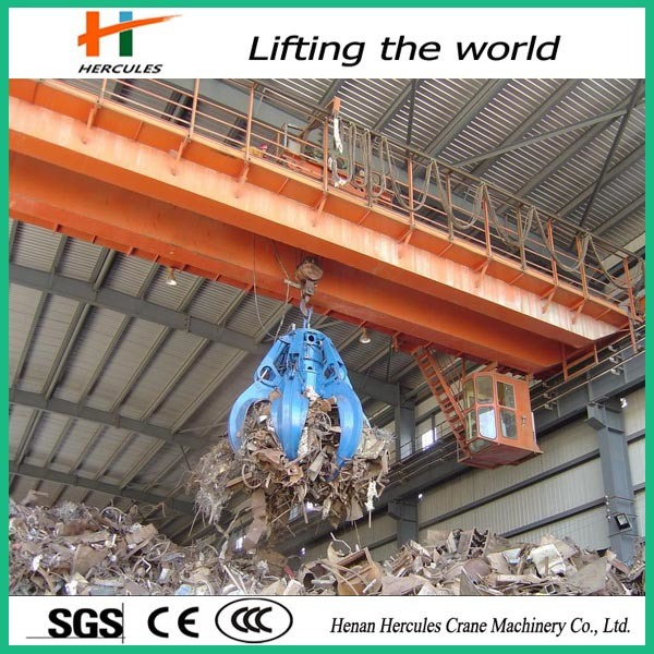 10~100t Workshop Double Beam Bridge Crane with Grab