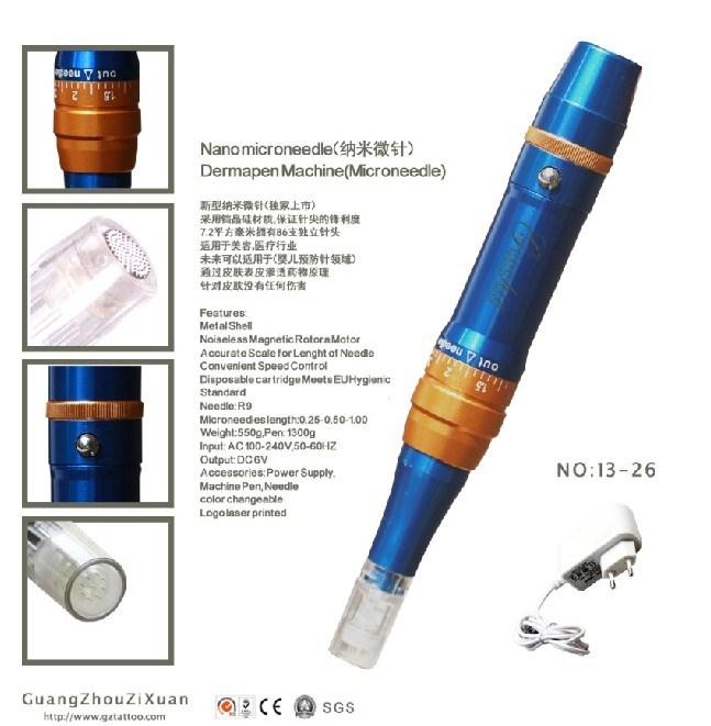 Nano Dermapen Micro Pen Microneedle Therapy Machine (ZX-13-26)