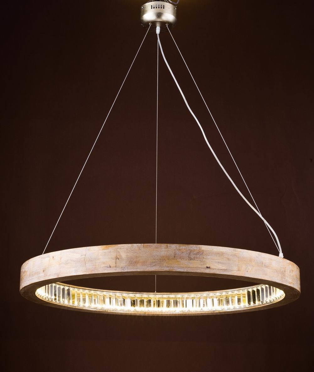Wood Chandelier with LED Inside (WHG-9091)