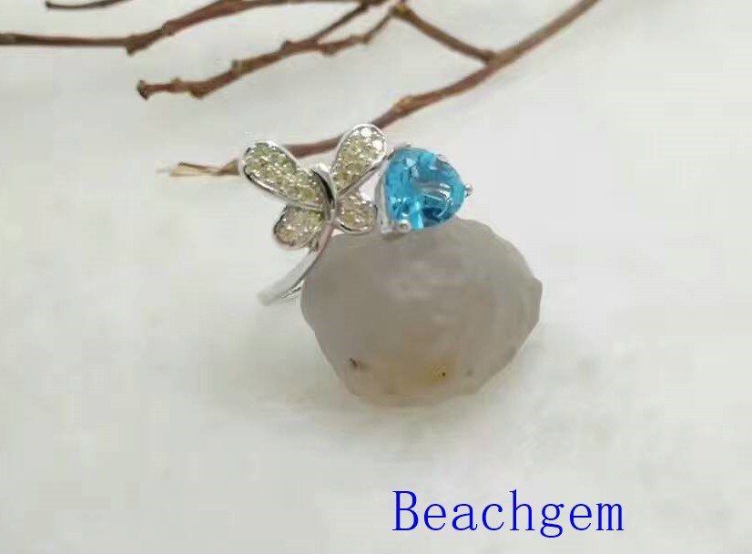 Jewelry-Topaz Sterling Silver Ring (R0276)