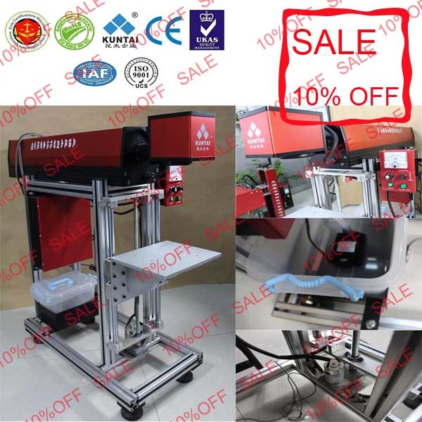 CO2 Laser Marking Printing Machine for Wood Rubber Fruit Cloth